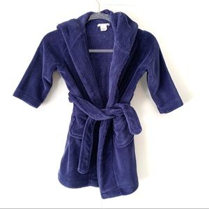 Pottery Barn Kids Blue Fluffy Robe Attached Tie S